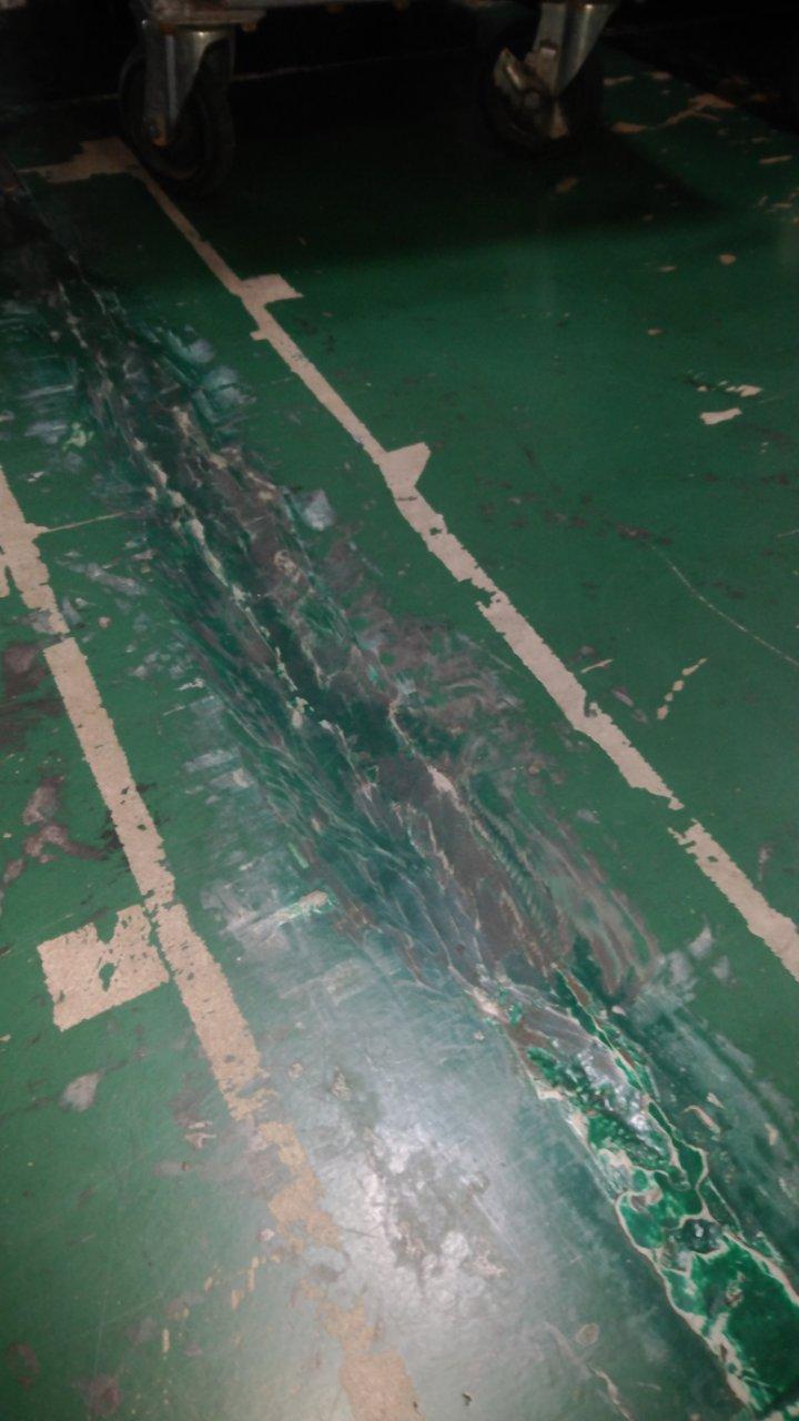 コンクリート強固材での修繕後